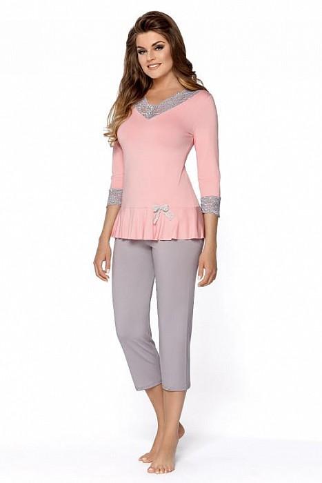 1369cfe5f6 dámské pyžamo Babella Dalida růžovo-šedá